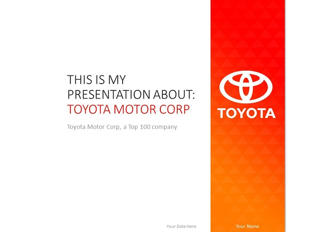 Toyota Powerpoint Template Presentationgo Com