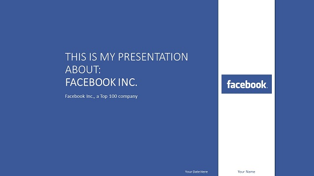 Facebook Powerpoint Template Presentationgo Com