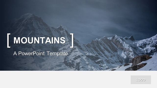 powerpoint template mountains
