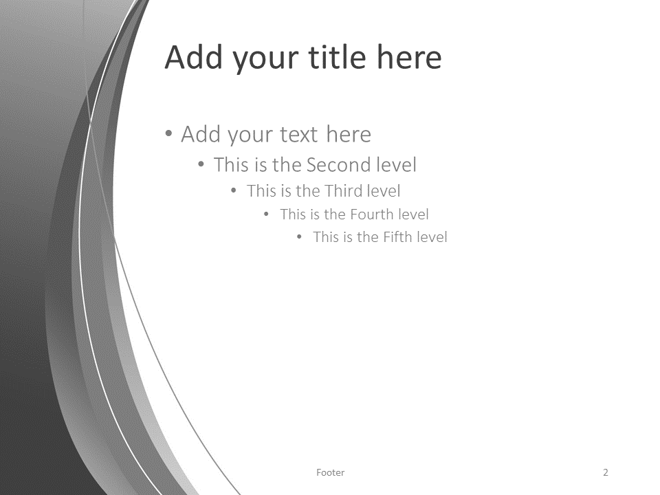 Free Gray Abstract PowerPoint Template - Title and Content slide