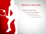 Tennis PowerPoint Template Red