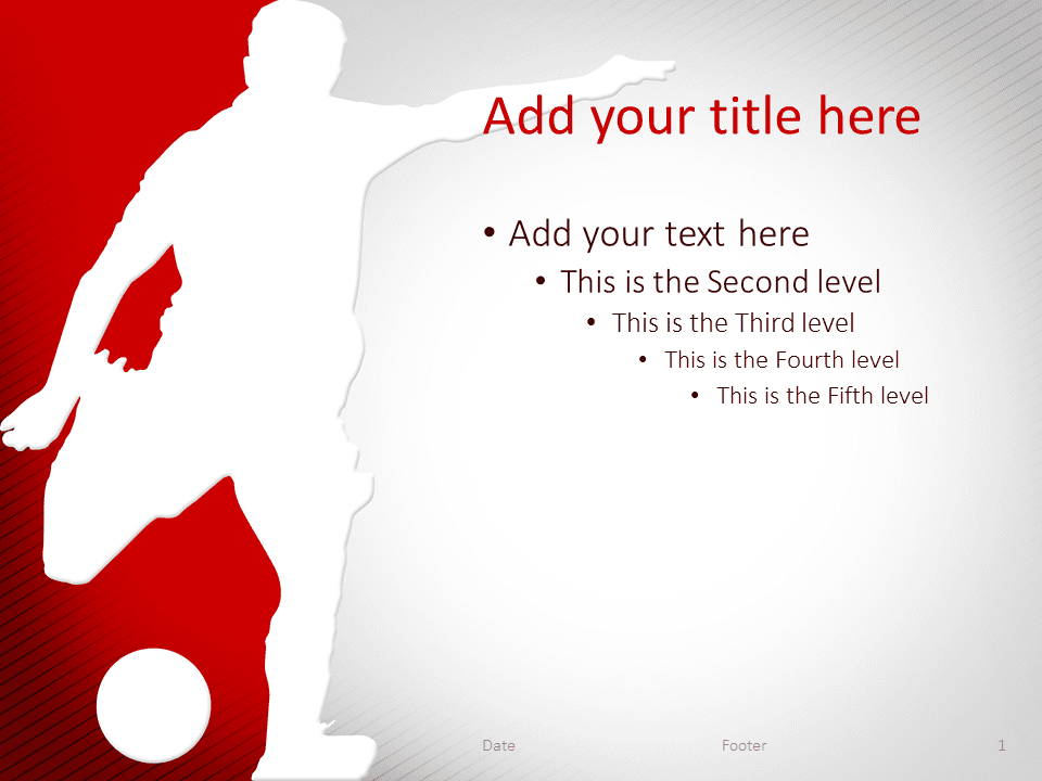 soccer powerpoint template red - presentationgo, Powerpoint templates