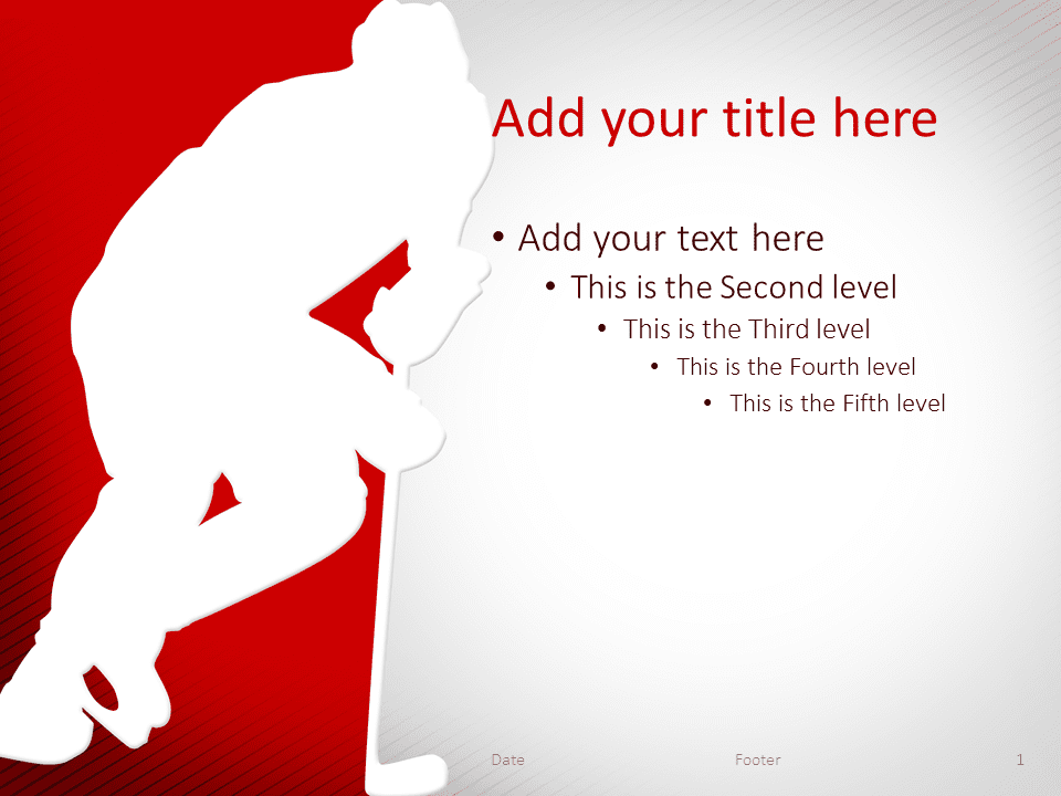 Hockey Powerpoint Template Red Presentationgo