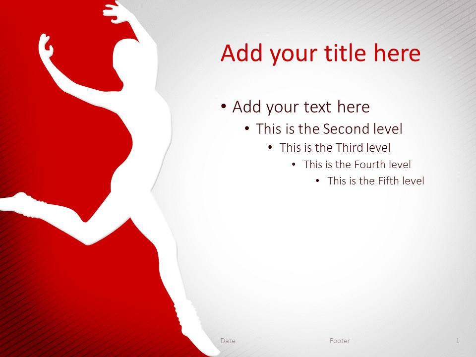 Dance PowerPoint Template Red