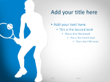 Free Tennis PowerPoint Template Blue
