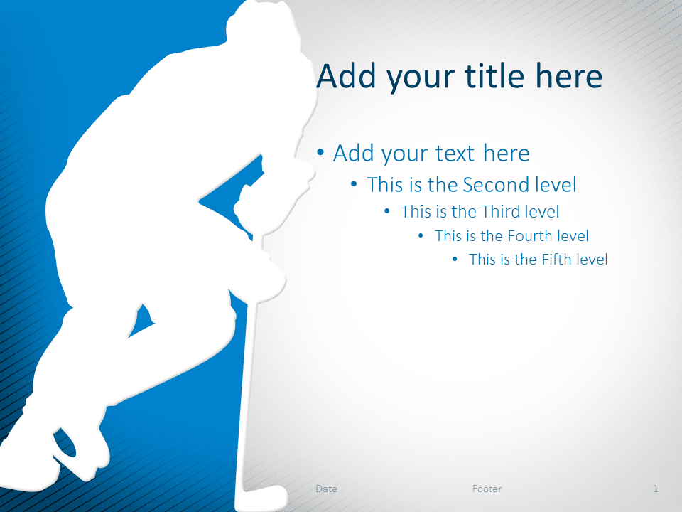 Hockey PowerPoint Template Blue