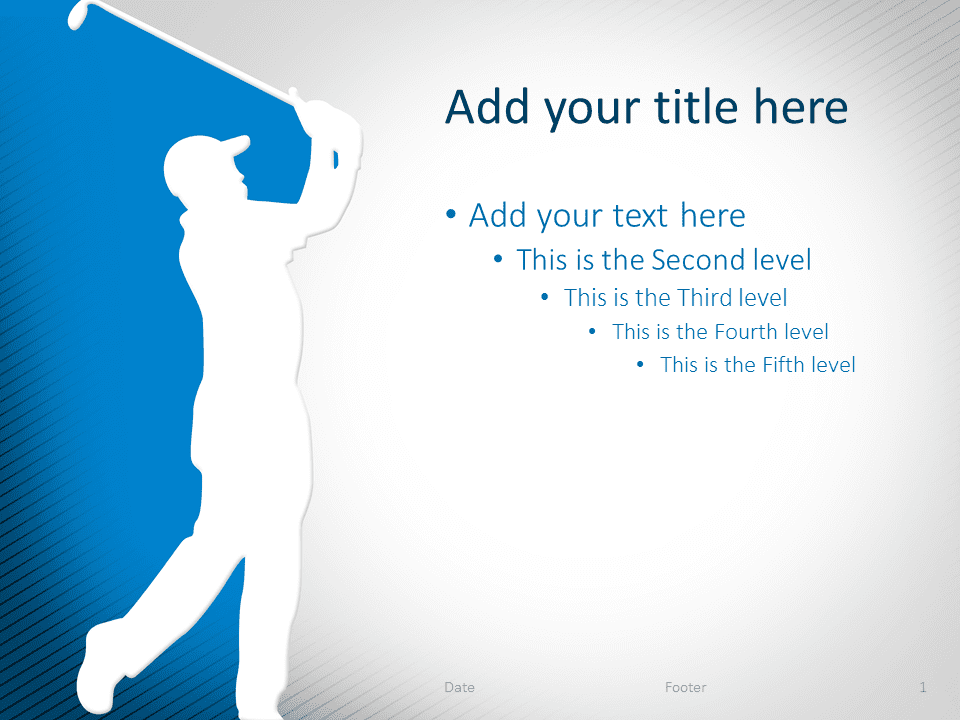 Golf PowerPoint Template Blue