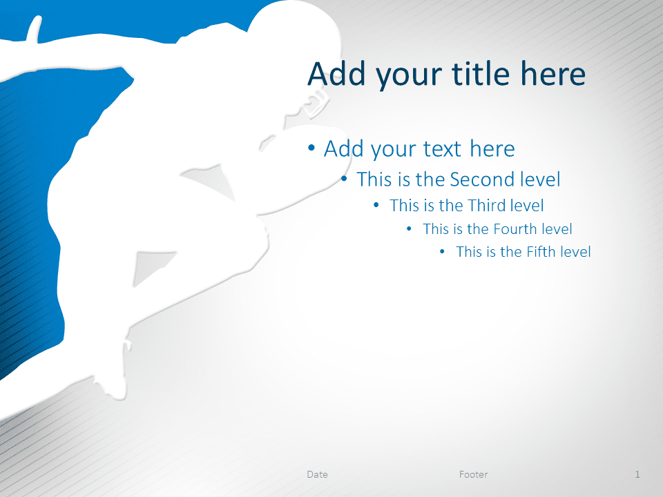 Football PowerPoint Template Blue