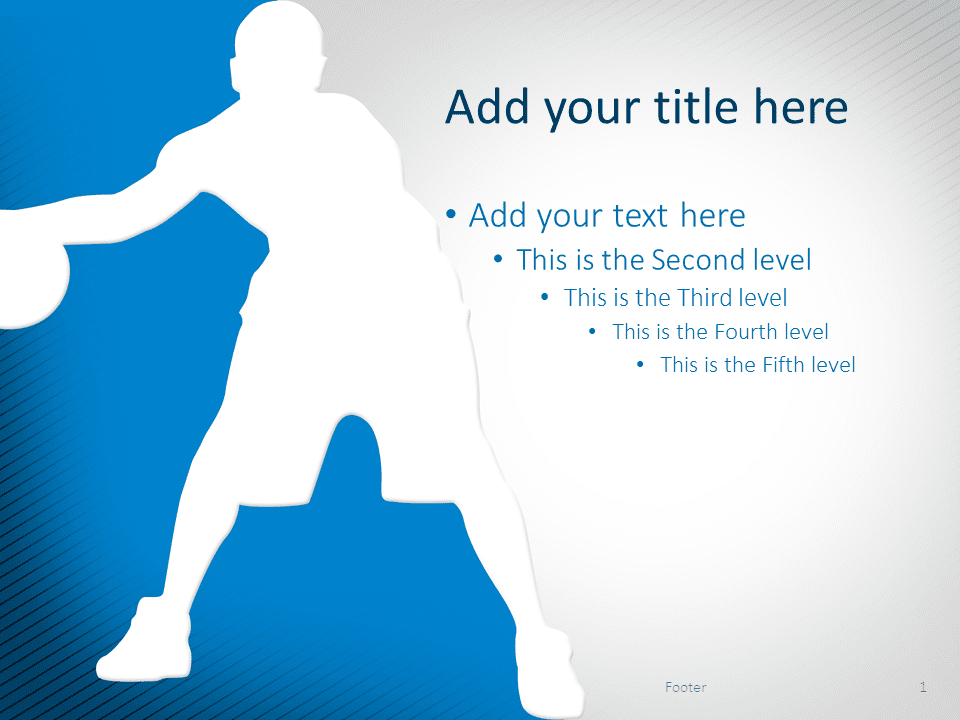 Basketball PowerPoint Template Blue