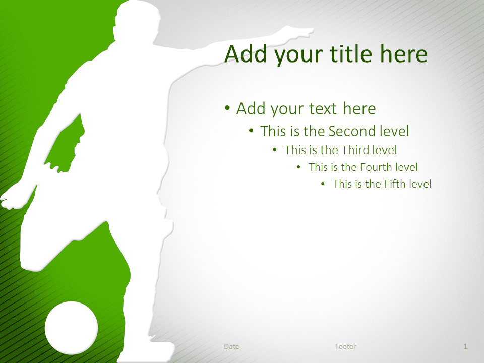 soccer powerpoint template green - presentationgo, Powerpoint templates