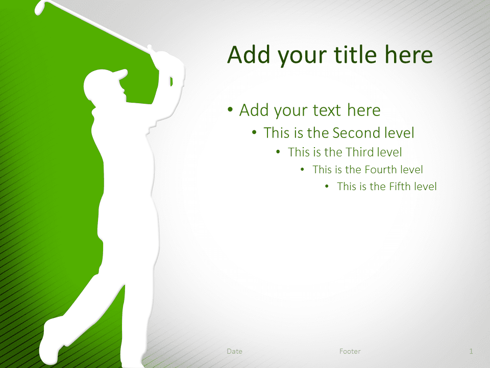 Golf PowerPoint Template Green