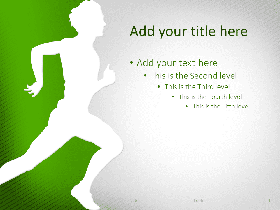 Running PowerPoint Template Green