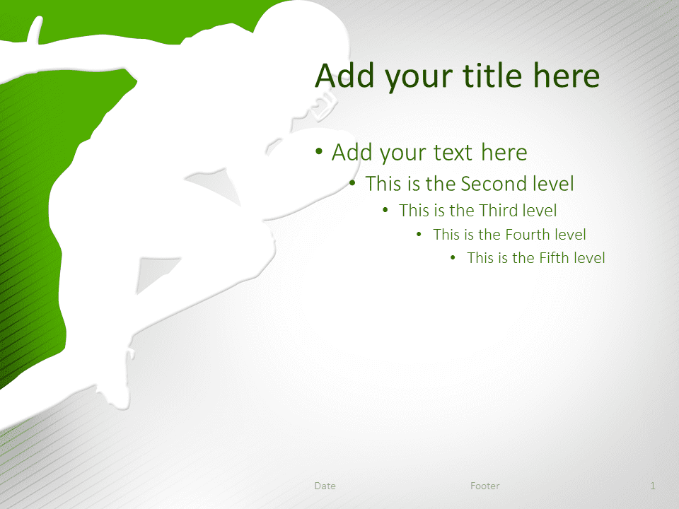Football PowerPoint Template Green