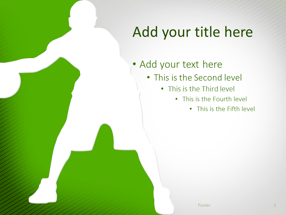 Basketball PowerPoint Template Green