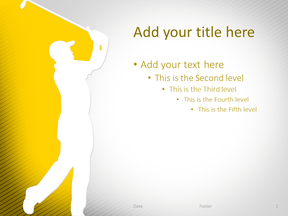 Golf PowerPoint Template Yellow