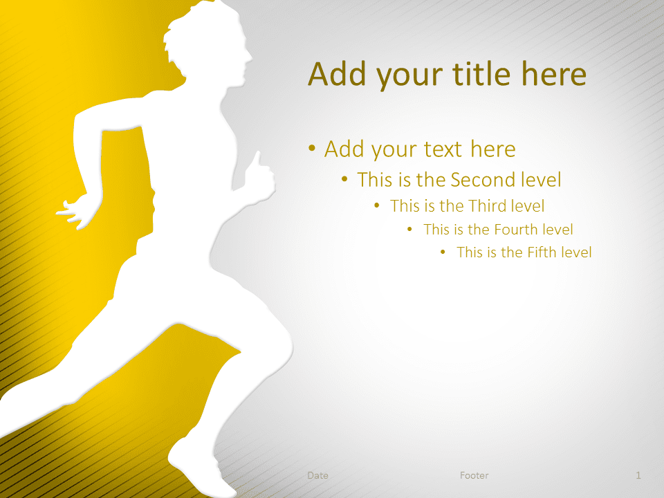 Running PowerPoint Template Yellow