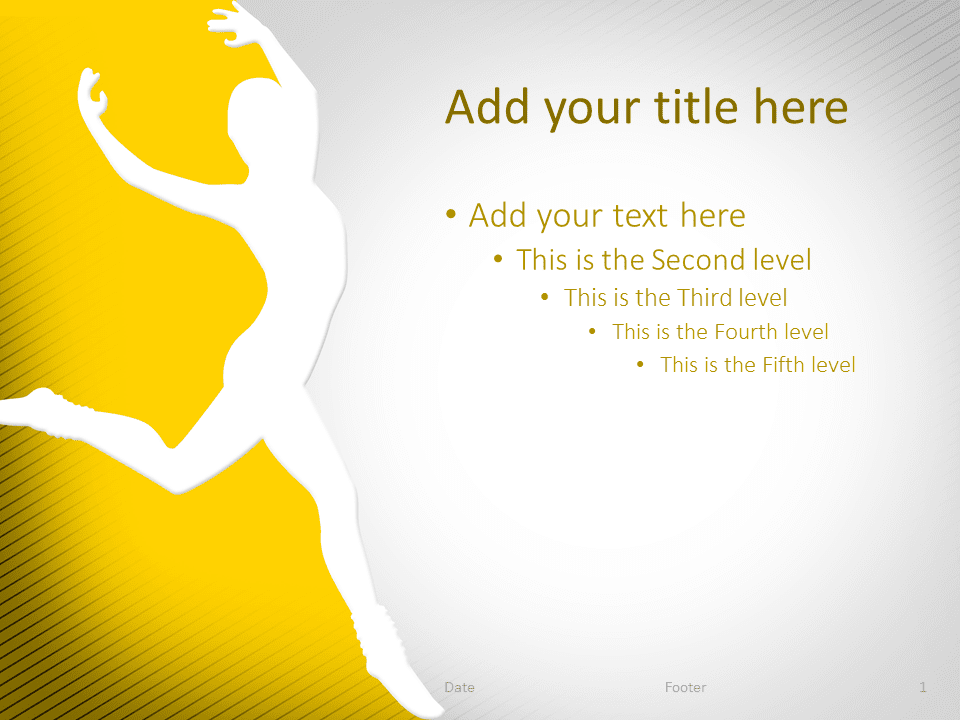 Dance PowerPoint Template Yellow