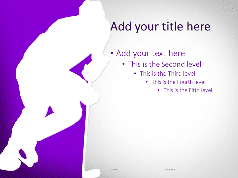 Hockey PowerPoint Template Purple