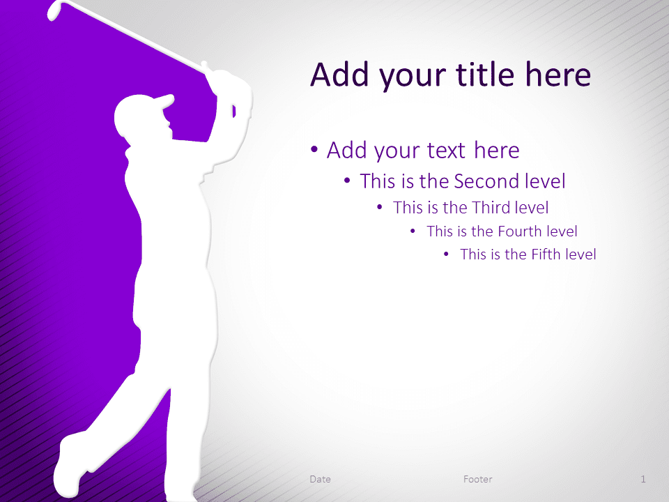Free Powerpoint Templates About Golf Presentationgo Com
