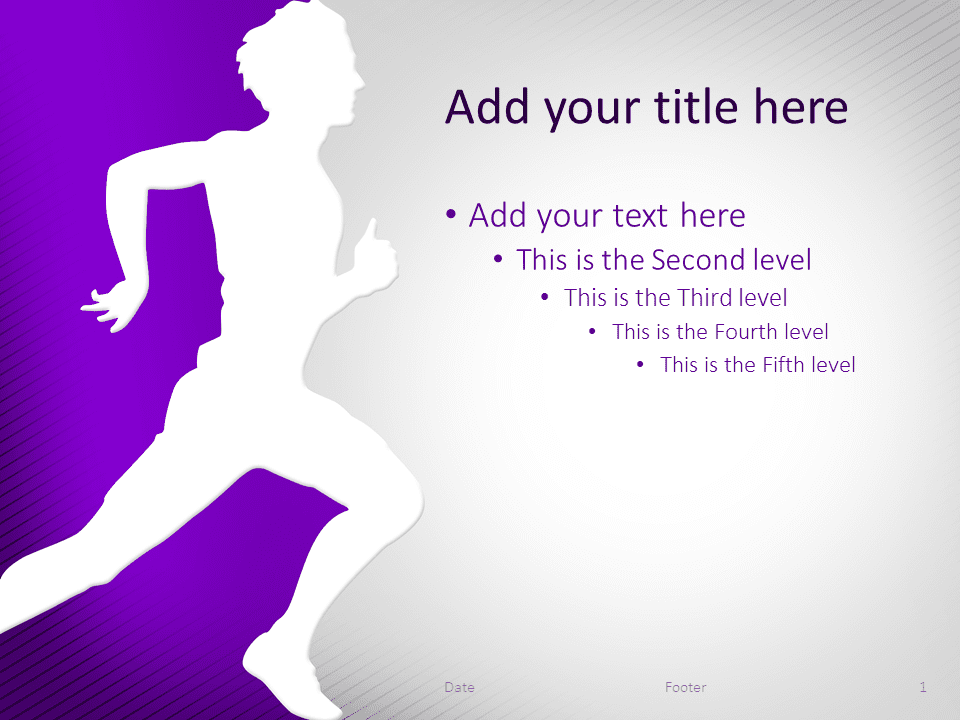 Running PowerPoint Template Purple