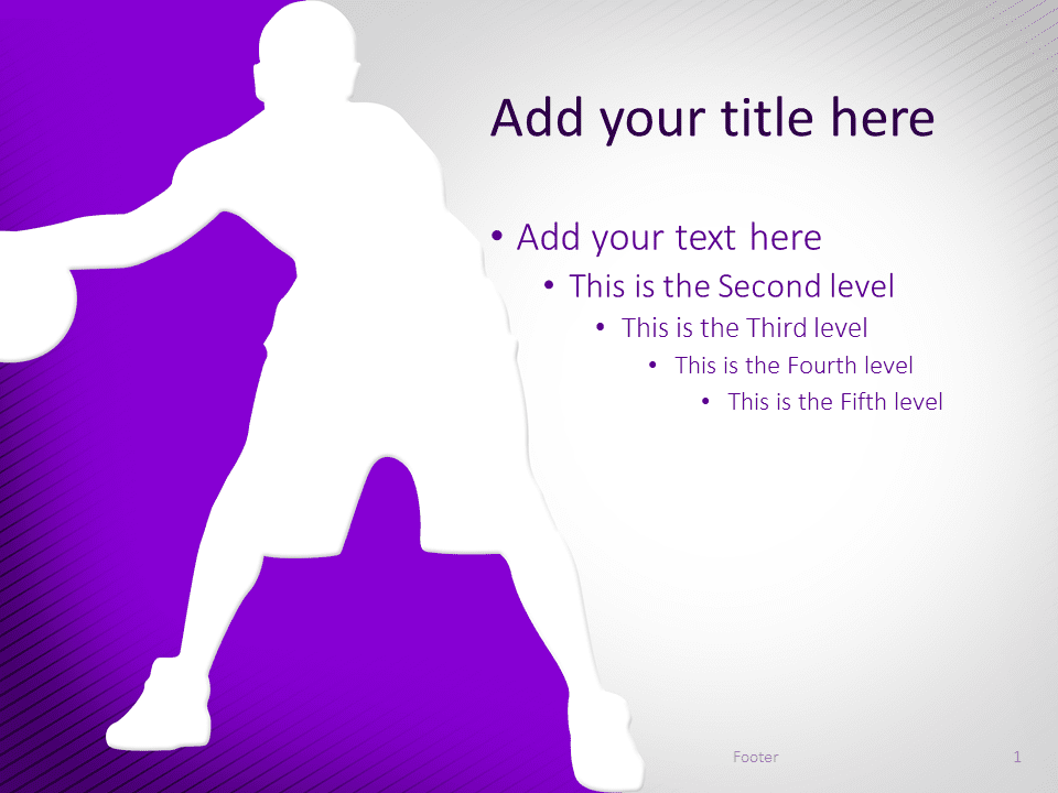 Basketball PowerPoint Template Purple
