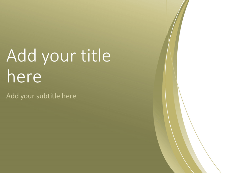 Gold Abstract Powerpoint Template Presentationgo Com