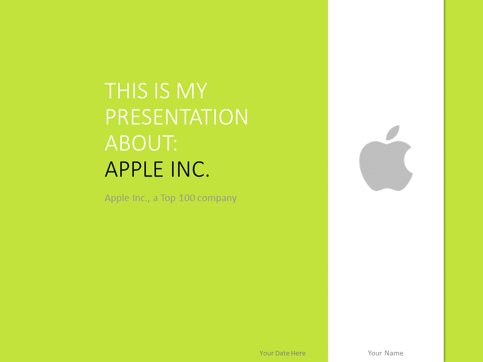 Apple inc the free powerpoint template library apple powerpoint template green toneelgroepblik Gallery