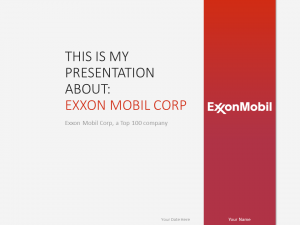 Free ExxonMobil PowerPoint Template