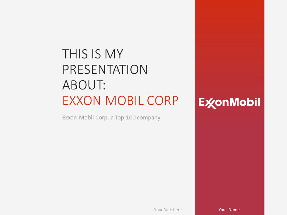 Oil and gas the free powerpoint template library exxonmobil powerpoint template toneelgroepblik Images