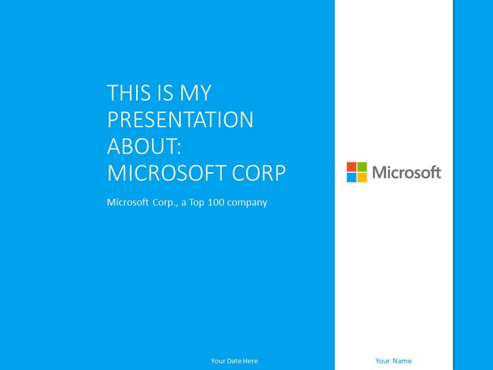 Microsoft Powerpoint Template Blue Presentationgo Com