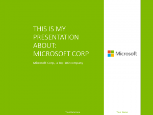 Free Microsoft PowerPoint Template Green