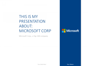 Free Microsoft PowerPoint Template Marine