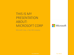 Free Microsoft PowerPoint Template Yellow