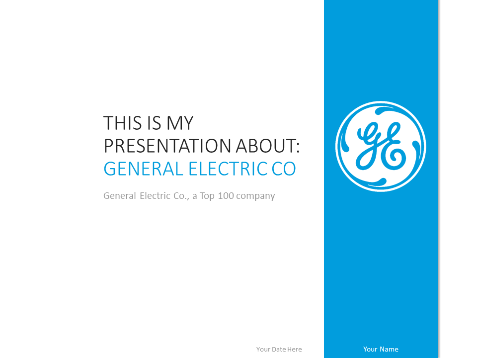 general electric powerpoint template  presentationgo, Templates