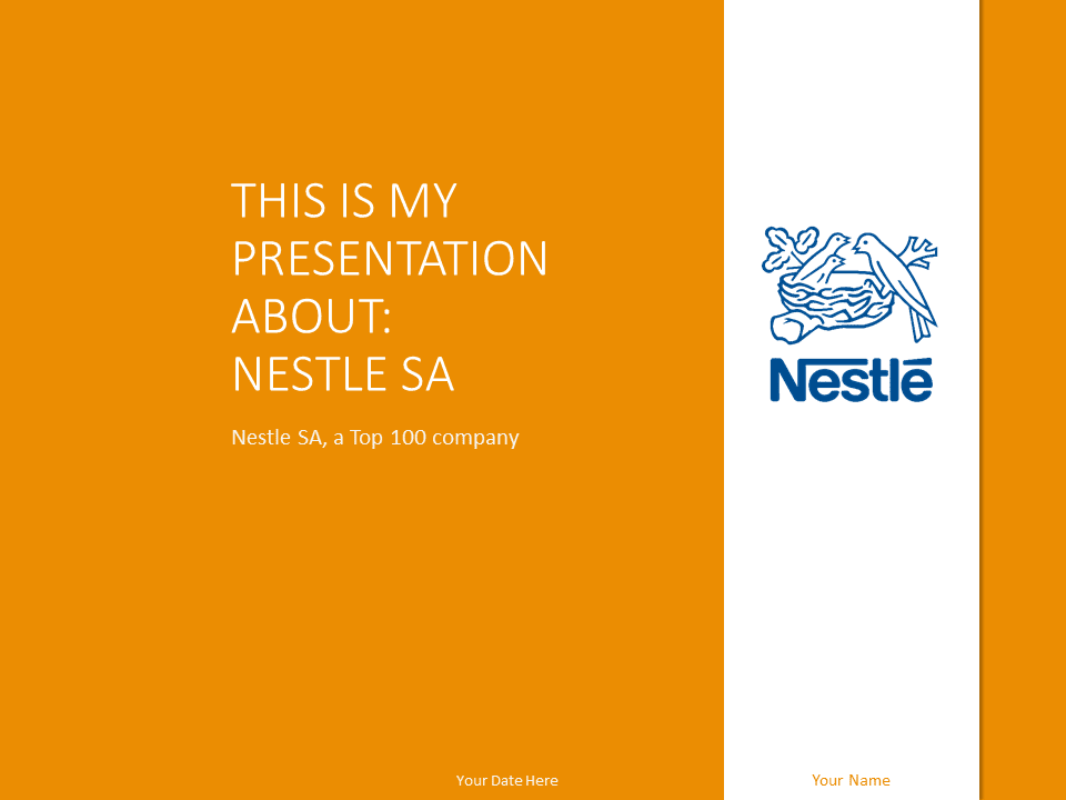 nestlé - the free powerpoint template library, Presentation templates