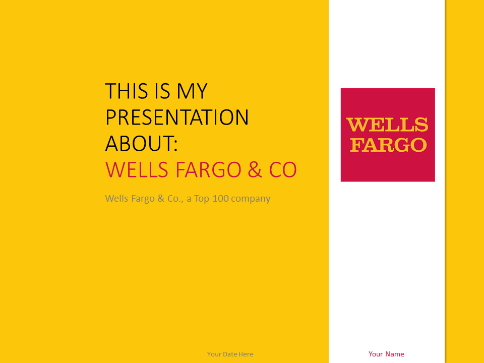 Free yellow powerpoint templates presentationgo wells fargo powerpoint template yellow toneelgroepblik Choice Image