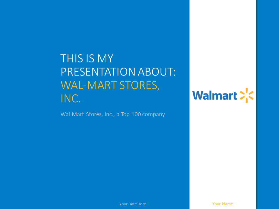 wal-mart - the free powerpoint template library, Walmart Presentation Template, Presentation templates