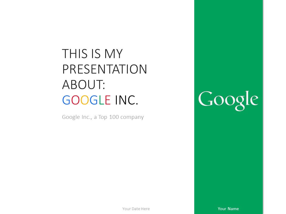 google inc powerpoint template green presentationgo