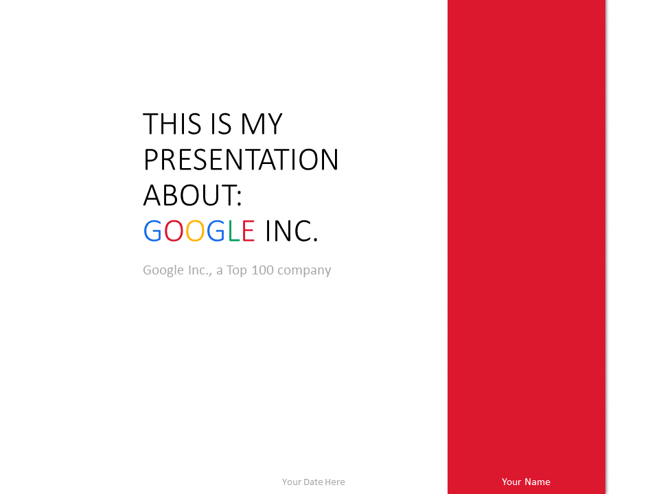 Google inc powerpoint template red presentationgo free google powerpoint template red background thecheapjerseys Choice Image
