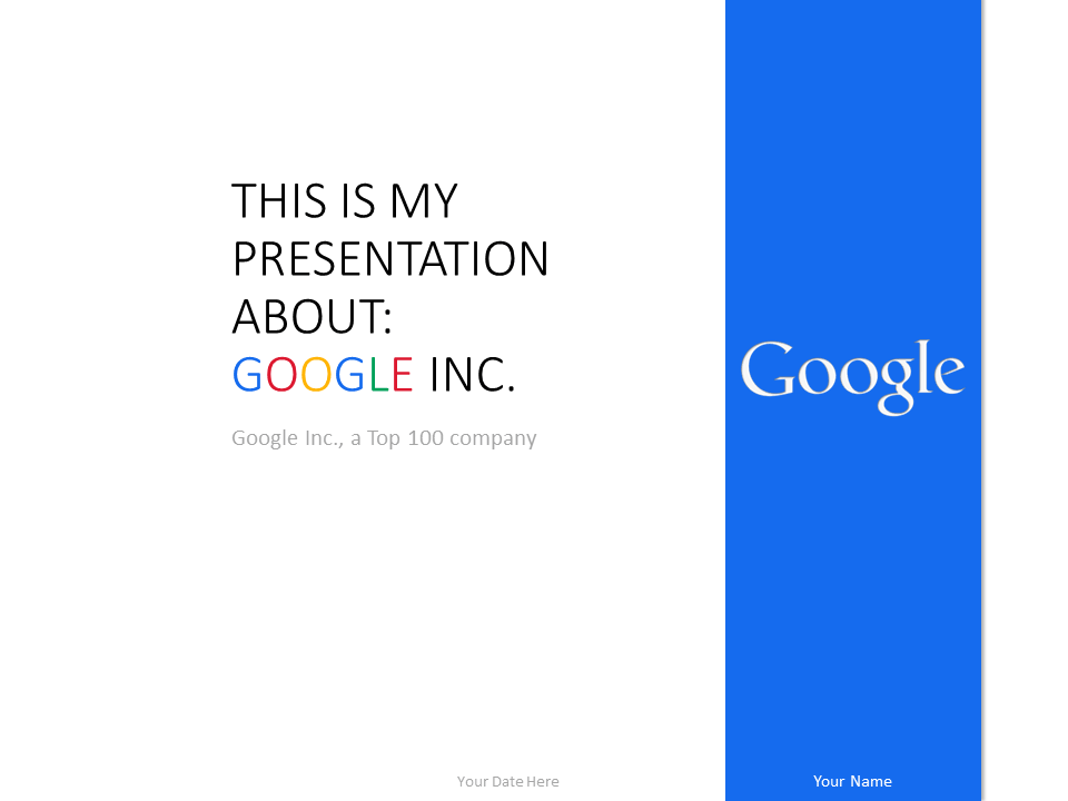 Free Google PowerPoint Template