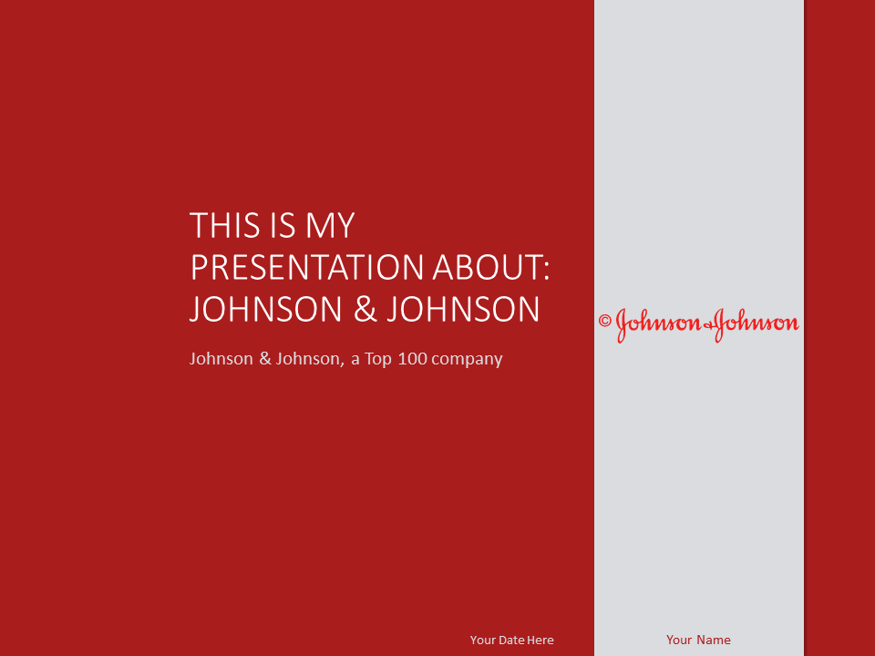 Johnson & Johnson PowerPoint Template - PresentationGo