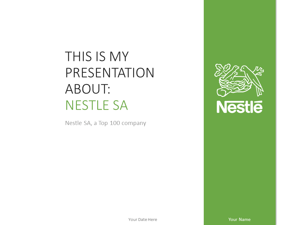 Free Nestle PowerPoint Template Green