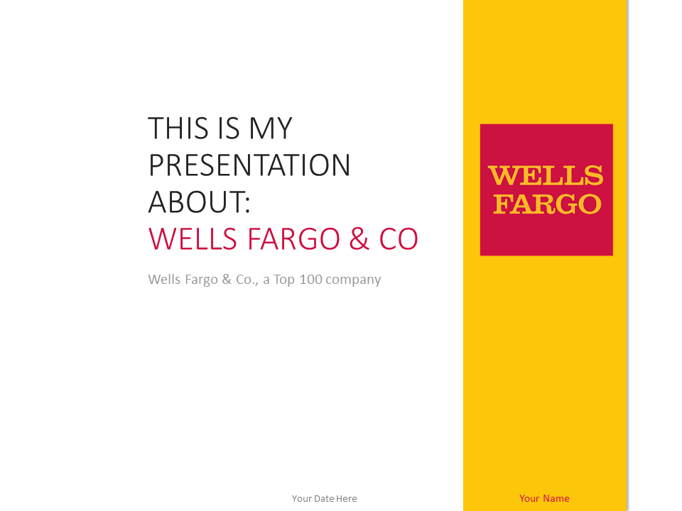 Free Wells Fargo PowerPoint Template Yellow