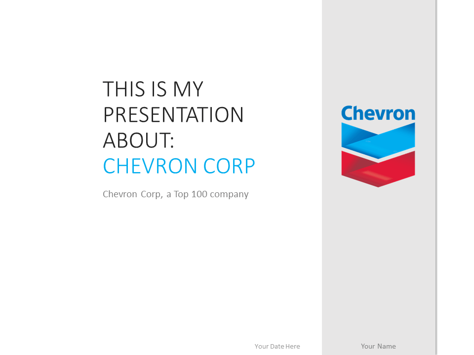 Free Chevron PowerPoint template with gray and white colors scheme