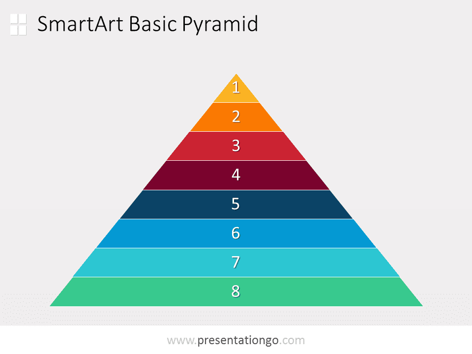 Pyramid word template for 25000 pyramid powerpoint template