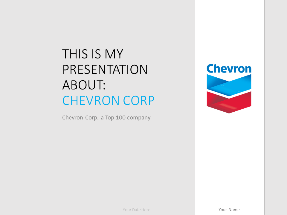 Free Chevron PowerPoint Template - Gray background