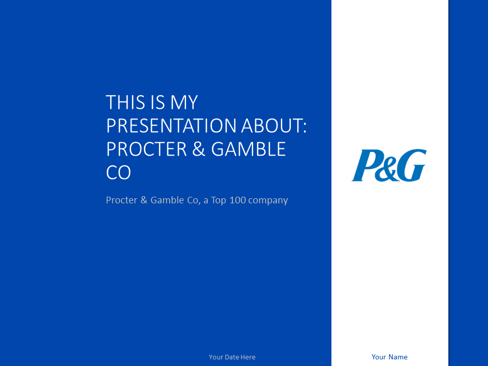 Free P&G PowerPoint Template - Blue background