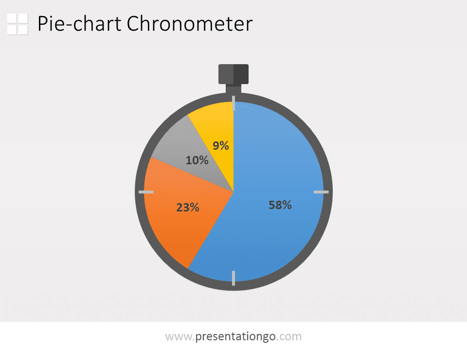 Free Pie-chart PowerPoint Chronometer
