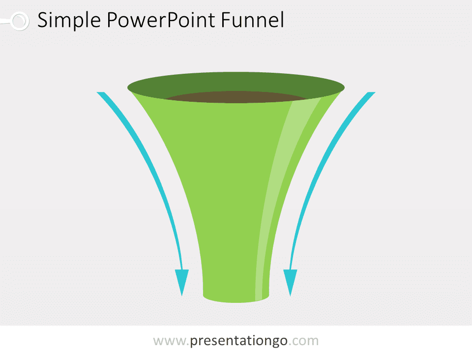 simple funnel diagram for powerpoint - presentationgo, Modern powerpoint