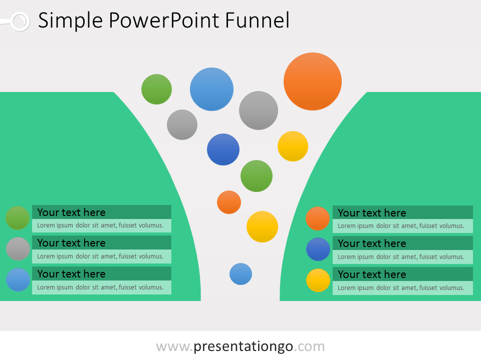 Funnel for powerpoint with bubbles presentationgo view larger image powerpoint funnel with bubbles ccuart Choice Image